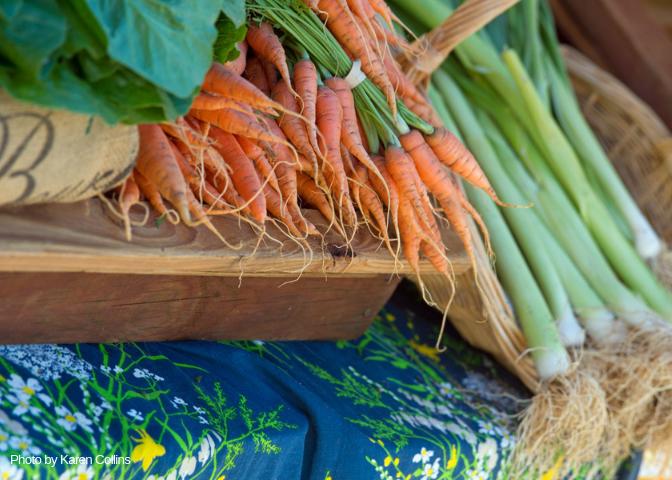farmers market, vegetables, local food